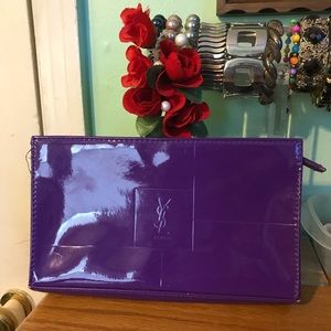 Yves Saint Laurent cosmetics pouch or clutch